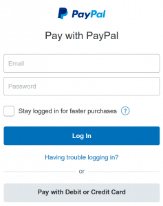 Pay with PayPal image